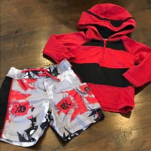 Gap Swim Suit & Rash Guard Set size 12-18 months
